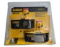 DEWALT DC9096-2 18V 18 Volt Ni Cad XRP Battery Packs Model DC9096 X 2 NEW NIP