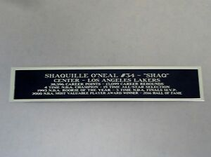 Shaquille O'Neal Lakers Autograph Nameplate For A Basketball Case / Photo 1.5X8