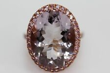 925 Rose Vermeil / Pink Amethyst / Pink Sapphire Ring (18.05 cts)