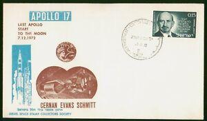 Mayfairstamps Israel Space 1972 Apollo 17 Cernan Evans Schmitt Cover wwp_50723