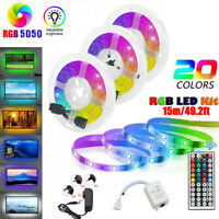 5~15M 5050 RGB 300 LED STRIP LIGHTS COLOUR CHANGING FLEXBILE TAPE LIGHTING 12V