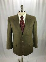 Nordstrom Men's Brown Wool Glen Plaid Blazer Jacket Sport Coat 40R