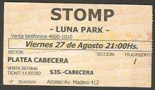 Argentina Stomp Luna Park Stadium Concert Ticket Stub 2004