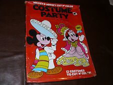 Vintage Disney Mickey Mouse and Minnie Paper Doll Costume Party Sealed MIB 1977