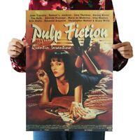 Pulp Fiction Retro Nostalgia Classic Old Movie Poster Kraft Paper Wallpaper