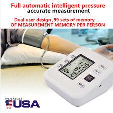 Automatic Upper Arm Blood Pressure Monitor Digital Machine Sensor Tester Meter