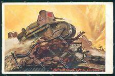 Militari Reggimento Carri Armati cartolina XF3698