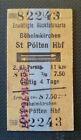 Eisenbahn Fahrkarte  1976  Böheimkirchen - St.Pölten