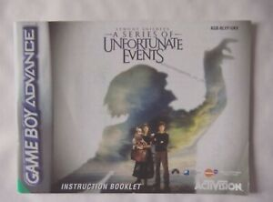 61471 Instruction Booklet - Lemony Snicket's A Series Of - Nintendo Game Bo