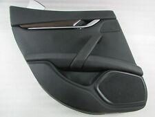 Maserati Ghibli, LH, Left Rear Door Trim Panel, Black, Used, P/N 6700189580