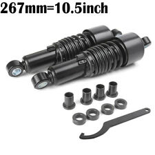 2PCS 10.5'' Air Shock Absorber For Harley Yamaha Davidson Sportster Dyna Black