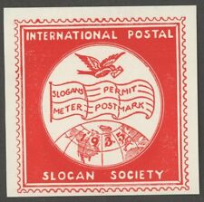 1935 INTERNATIONAL POSTAL SLOGAN SOCIETY Poster Stamp