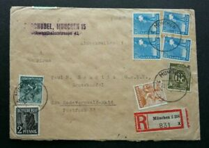 [SJ] Germany Old Registered Letter 1948 Cover