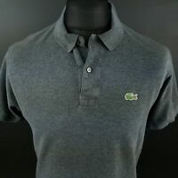 Lacoste Mens Polo Shirt 4 (XS) Short Sleeve Grey Regular Fit No Pattern Cotton