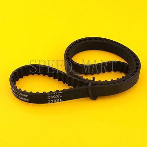 230XL 230XL037 Timing Belt 115 Teeth Black Cogged Rubber Geared Belt 10mm Wide