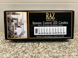 RAZ Remote Control LED Candles 10 (Clip-On)