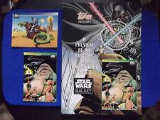 lot of 3 Star Wars Galaxy Series 1 Promo Sheet Card Jabba the Hutt 1993 TOPPS