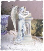 Mystische Engel Skulptur Schutzengel vintage Art Nouveau Figur Grabengel Deko