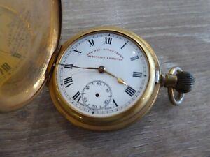RAILWAY TIMEKEEPER VINTAGE FULL HUNTER GENTS POCKET WATCH
