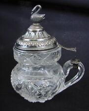 Altes Glas Krüglein Silber Biedermeierzeit um 1830