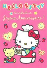 Hello Kitty birthday greetings comic postcard