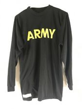 Army Physical Fitness Uniform APFU Black Gold Long Sleeve Mens L T-shirt PT
