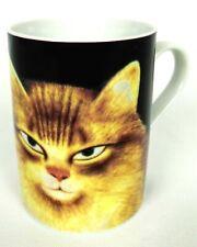 Cat Coffee Mug Cup Martin Leman Cats TOM Yellow Black Department 56 Japan 10 Oz