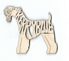 Kerry Blue Terrier Dog laser cut wood Magnet