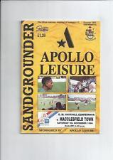 Southport Teams S-Z Football Non-League Fixture Programmes