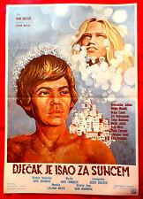BOY WAS HEADING FOR SUN 1982 DJECAK JE ISAO ZA SUNCEM B.BASTAC EXYU MOVIE POSTER