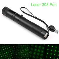 5mW 303 Laser Pointer High Power 532nm Pen Flashlight Visible Beam Light Torch