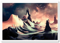 The Sands of Time Woman Fantasy by Cyril Rolando Russian Modern Postcard