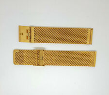 380481 Troy Stainless Steel Mesh Yellow Gold Tone 20mm Watch Strap RRP$30
