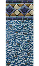 "30x52"" Ft Round Unibead Mosaic Diamond Above Ground Swimming Pool Liner-25 Gauge"