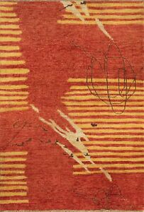 """Momeni Heirlooms Modern Hand Knotted Wool Red Area Rug 4' X 5'11"""""""