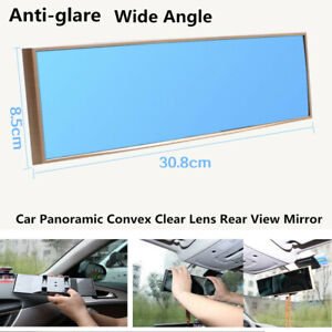1PC In Car Panoramic Convex Wide Angle Clip on Rear View Mirror 280mm Anti-glare