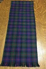 Made in Scotland Plaid Scarf 100% Pure Wool Ingles Buchan Glasgow Scottish Clan