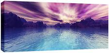 Lienzo Grande puesta de sol Mar misterio Island Pared Arte Obra De Arte Imagen 113 X 52 Cm