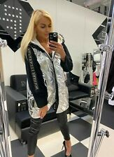 Paparazzi Fashion  jacket  size 12-14 silver with hood