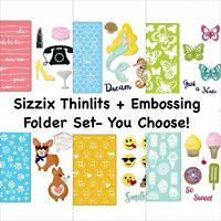 Sizzix Thinlits Dies + Textured Impressions Embossing Folder Bundle (You Choose)