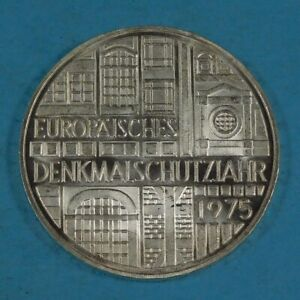1975 GERMANY 5 MARK COIN - SILVER - EUROPEAN MONUMENT PROTECTION