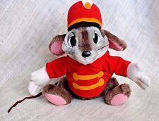 "10"" Vtg 1980's Rare HTF Disney Dumbo Timothy Circus Mouse Plush Band Leader"