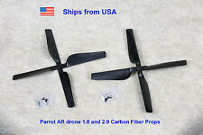 Parrot AR Drone 2.0 Quadcopter Carbon Fiber Props Upgrade 2xCW 2xCW with Screws