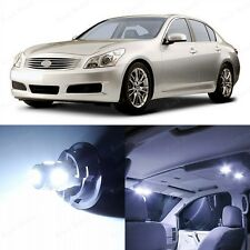 11 x Xenon White LED Interior Light and Plate Package For 2007-2008 Infiniti G35