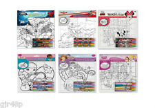 Disney Colouring Puzzles Princess Minnie Mouse Sofia First Doc Mcstuffins Planes