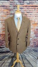 Brooks Brothers Baird McNutt 43R IRISH LINEN Brown HOUNDSTOOTH Sport Coat Blazer