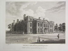 1780 DATED PRINT ~ HILL HALL IN ESSEX ~ THE SEAT OF SIR WILLIAM SMYTH
