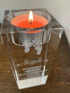Tea light Crystal Candle Holder Personalised