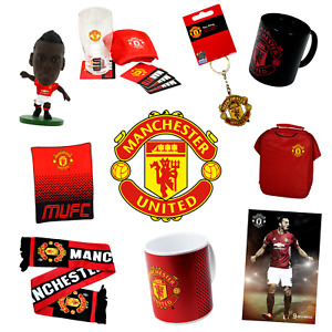 MANCHESTER UNITED OFFICIALLY LICENSED GIFT & APPAREL 20+ ITEMS TO CHOOSE FROM