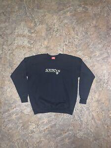 Vtg New Orleans Saints Sweater Crewneck Pullover Size L Unisex NFL Drew Brees